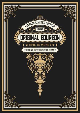 bourbon: Vintage Whiskey Label