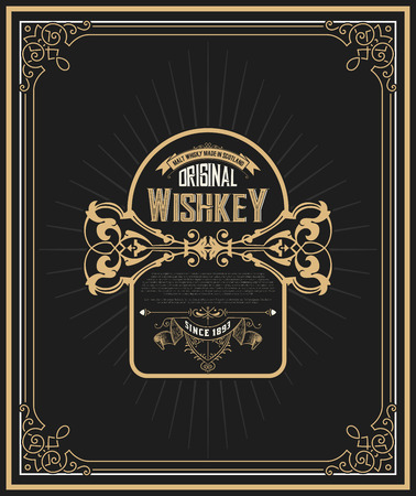 artdeco: Art-deco Whiskey label