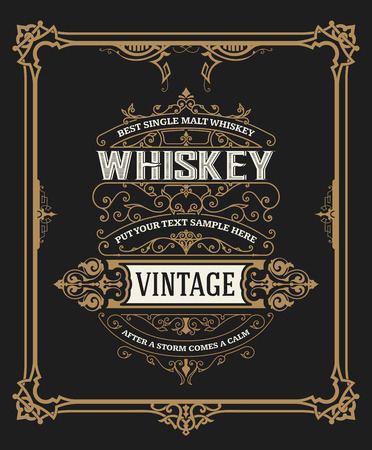 Whiskey card with old frame