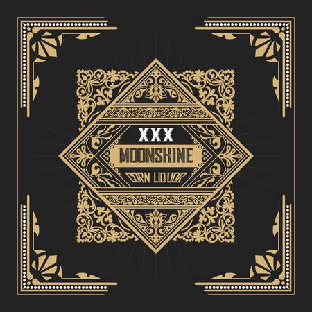 moonshine: Moonshine label with old frame design