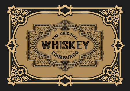 comercial: Vintage design for labels, emblem, banner, sticker. Suitable for whiskey or other comercial products