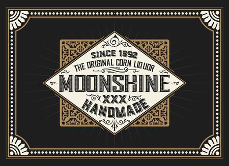 conception vintage d'étiquette pour l'étiquette de whisky et du vin, bannière restaurant, étiquette de bière.