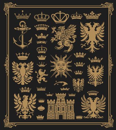 Pack Mega Héraldique Elements avec cadre baroque