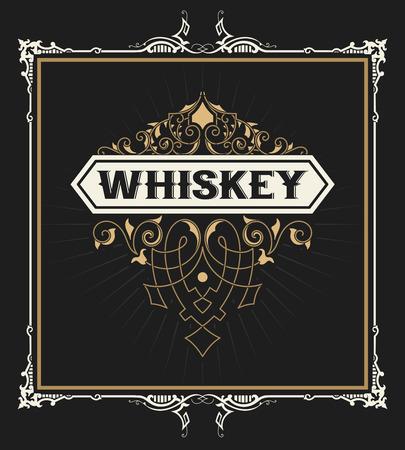 label frame: Old frame label design for Whiskey and Wine label, Restaurant, Beer label.