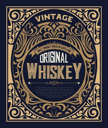 étiquette vintage pour le whisky. Vous pouvez appliquer cette conception pour un autre produit aussi.