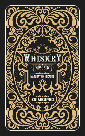 frame vintage: Vintage design for labels. Suitable for whiskey or other comercial products