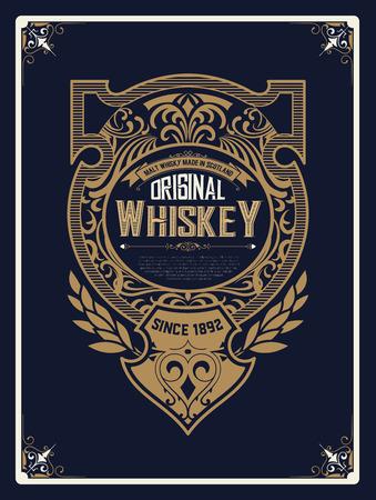 Conception vintage pour les étiquettes. Convient pour le whisky ou d'autres produits comercial