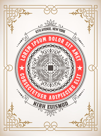 ephemera: Premium Quality card. Baroque ornaments and floral details. Organized by layers.