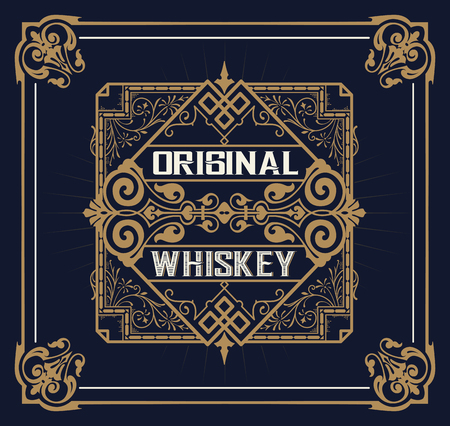 comercial: Vintage design for labels. Suitable for whiskey or other comercial products