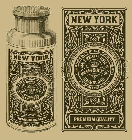 bottle of medicine: Vintage design with bottle