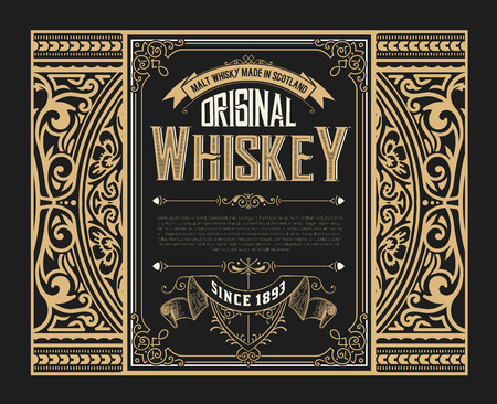 Old whiskey label Иллюстрация