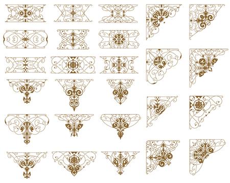 arabesque pattern: Set of Design Resources. Illustration