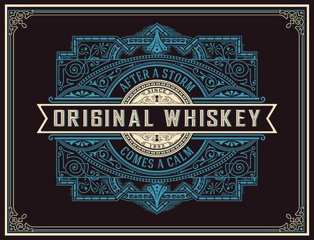 whiskey bottle: Old Whiskey Label