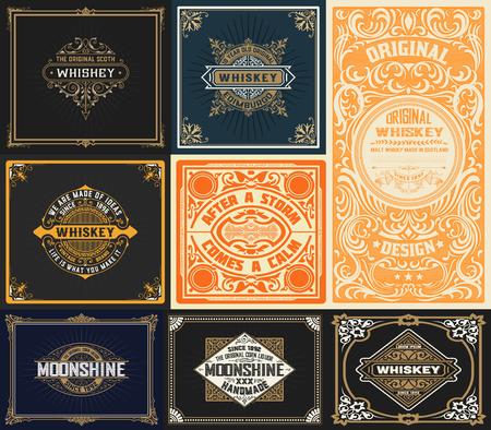 9 vintage cards set