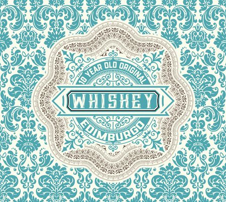 layered: Whiskey label. Vector layered