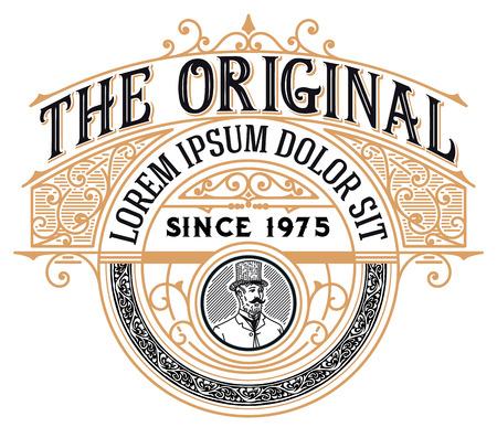 Vintage Logo with Victorian details