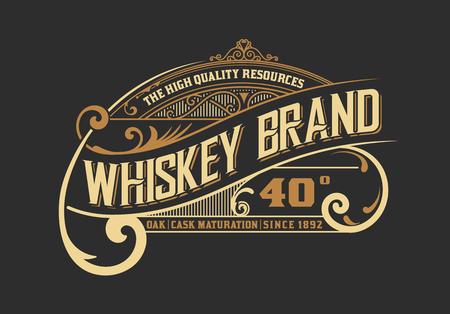 Starodawny stary projekt. Styl etykiety whisky