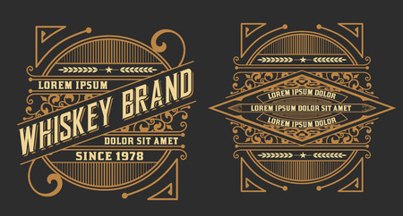 Set of labels. Western style