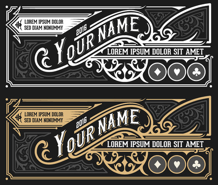 Vinatge label for packing template. Vector layered