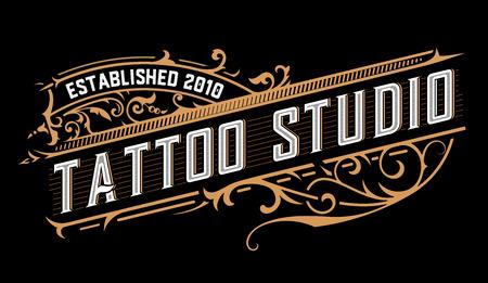 Logo del tatuaggio. Stile vintage Logo