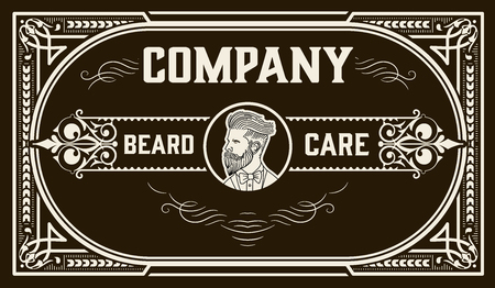 Vintage beard design for packing