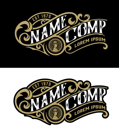 Modèle de logo vintage. Vecteur en couches