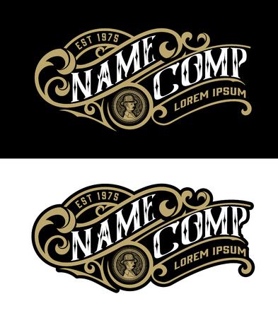 Plantilla de logotipo vintage. Vector en capas