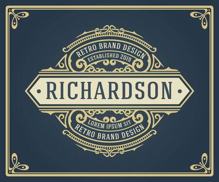 Conjunto de logotipos o insignias retro vintage. Elementos de diseño vectorial, rótulos comerciales, logotipos, identidad, etiquetas, insignias y objetos.
