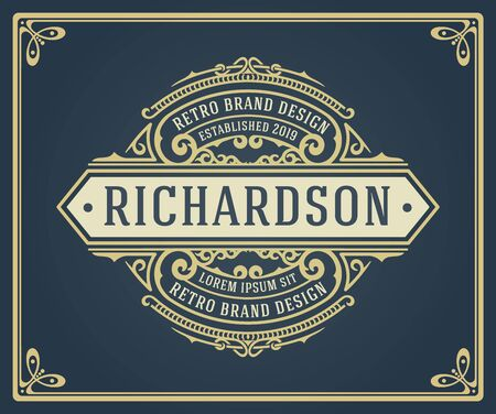 Retro Vintage Logotypes or Insignias set. Vector design elements, business signs, logos, identity, labels, badges and objects.