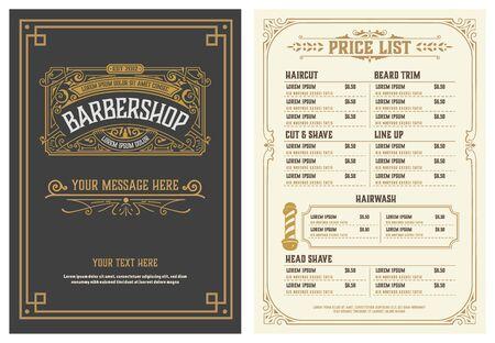 Barbershop Price List Flyer. Vector Layered Vektorgrafik