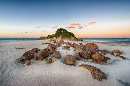 Sunset at Leisure Island (Moturiki), Mt Maunganui, New Zealand