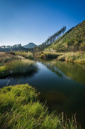 Landscape photo of Tairua River, Coromandel Peninsula, New Zealand