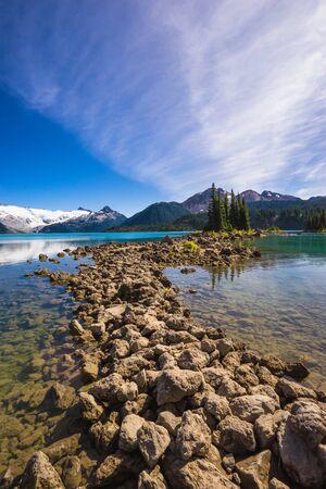 Summer hiking trail to Garibaldi Lake, British Columbia, Canada
