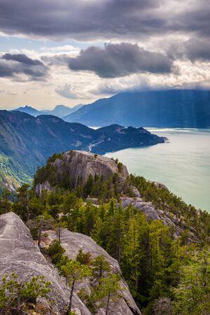 Howe Sound from the summit of Stawamus Chief, Squamish, British Columbia, Canada