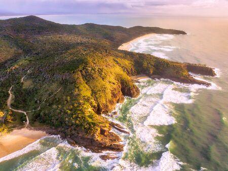 Aaerial drone photo of Noosa National Park, Noosa Heads, Sunshine Coast, Queensland, Australia