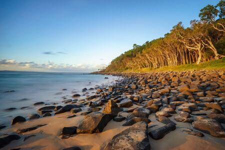 Sunset at Tea Tree Bay, Noosa National Park, Noosa Heads, Sunshine Coast, Queensland, Australia