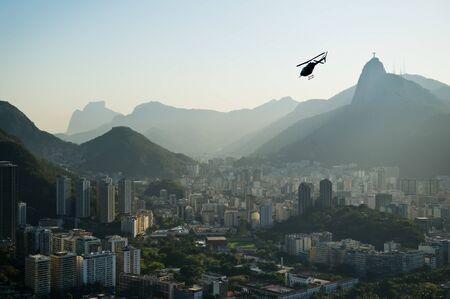 Landscape photo over Rio de Janeiro city, Brazil, taken from Sugar Loaf Mountain