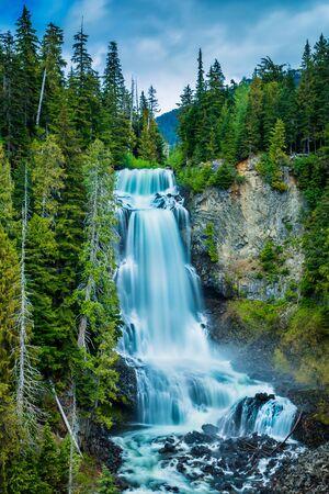 Long exposure photo of Alexander Falls, Whistler, BC, Canada
