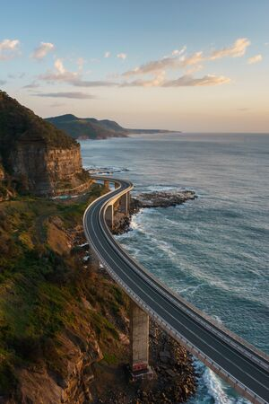 Sunrise at the Sea Cliff Bridge, New South Wales, Australia