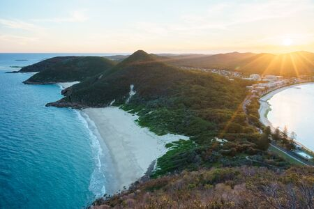 Sunset from Mt Tomaree, Port Stephens, New South Wales, Australia