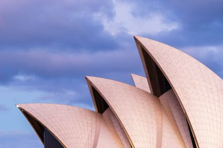 The Opera House in Sydney, New South Wales, Australia Фото со стока