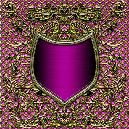 shield emblem or crest for stock with space for text or image photo