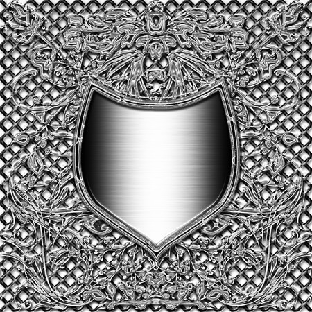 shield emblem or crest for stock with space for text or image