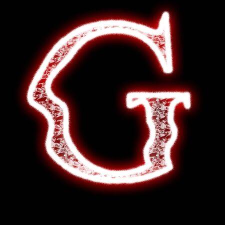 Glowing neon font photo