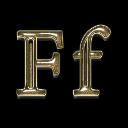 Metal alphabet symbol for web or writing photo