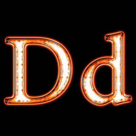 Glowing neon letter on black background for web or desktop Stock Photo - 8686553