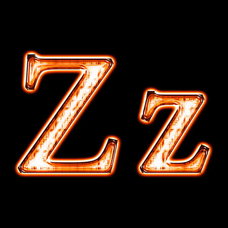 Glowing neon letter on black background for web or desktop Stock Photo - 8686550