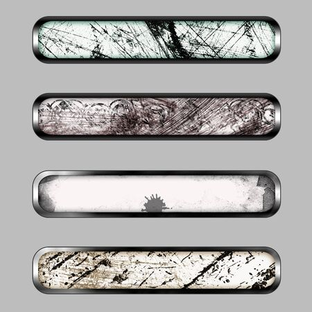 Grunge horizontal banner with color curve for web or desktop photo