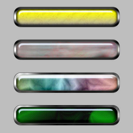Abstract horizontal banner with color lines for web or desktop photo