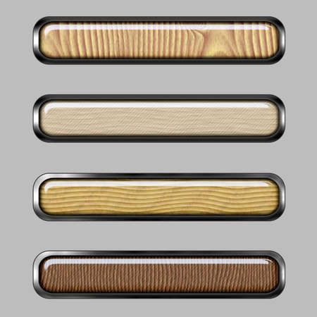 Wood horizontal banner with color lines for web or desktop photo